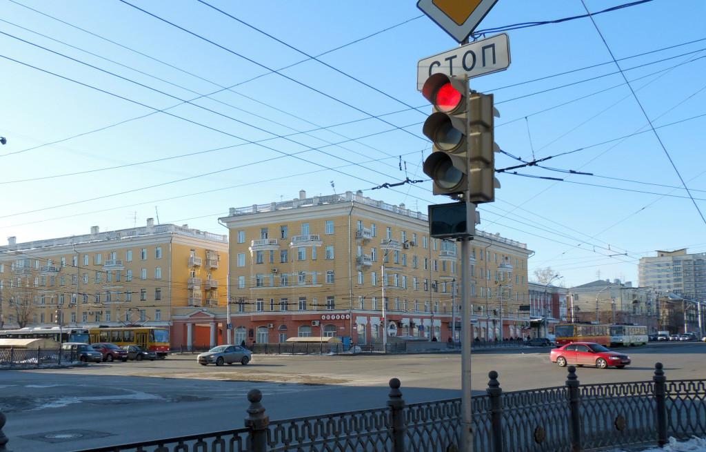 Дом с аптекой площадь Октября, Барнаул