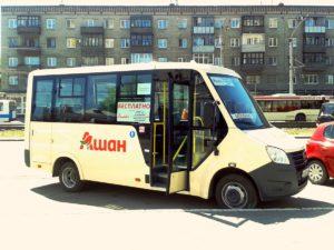автобус в Ашан Баранул