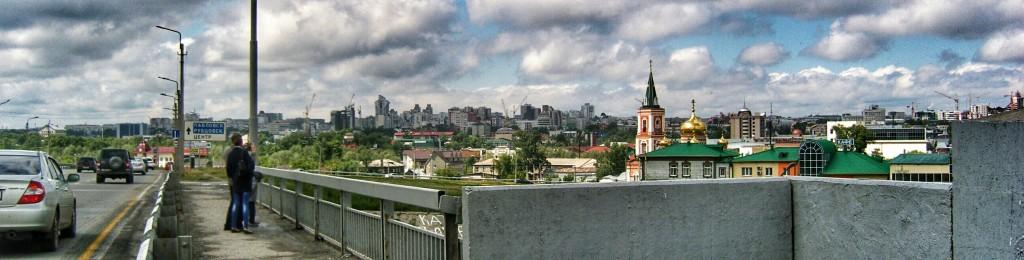 Панорама Барнаул с Нового моста