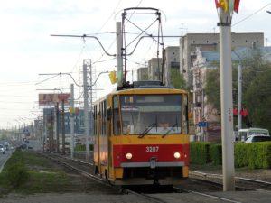трамвай 1 маршрута Барнаул