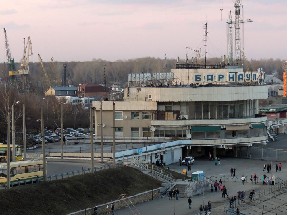 речной вокзал Барнаул с Нового моста