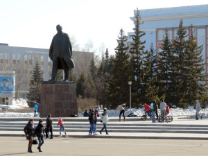 Памятник Ленину Барнаул